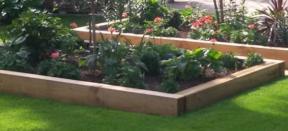 How To Build A Raised Bed With Railway Sleepers Landscape Depot